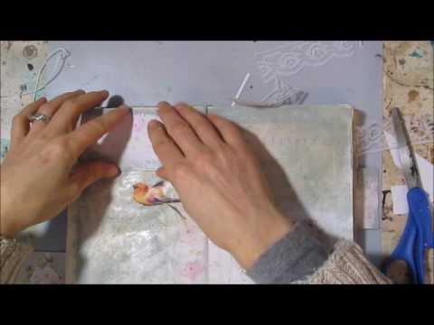 mixed media time lapse in my journal