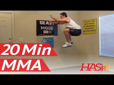 20 Minute MMA Training Workouts - HASfit Mixed Martial Arts Workout - UFC Training Exercises