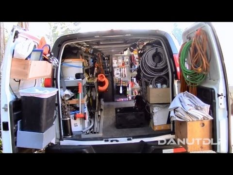 Construction Work Van Shelves, Layout and Organization