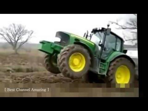TOP drôle tracteur accidents, le Plus fou, un conducteur de tracteur, Drôle tracteur cascades #08