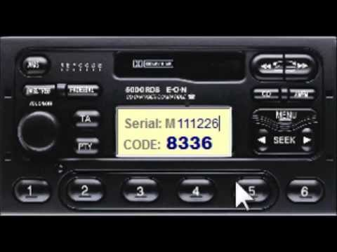 FREE - Ford Radio Decode Unlock KeyCode (M SERIES)