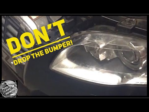 Audi A4 B7 head lamp change out without dropping the bumper