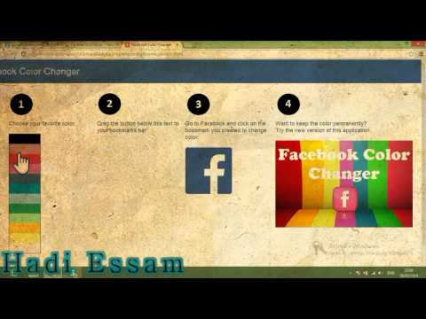 How To Change Facebook Colour In Google Chrome