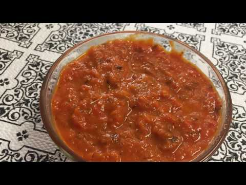 How to make pizza sauce Recipe (Tomato sauce used to make homemade PIZZA)