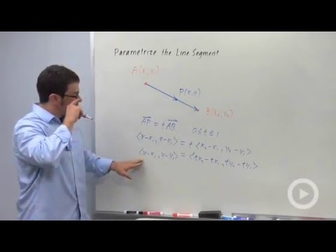Finding Intersections Using Parametric Equations