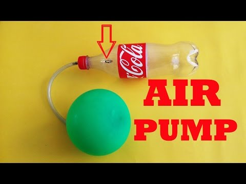 How to make an air pump using plastic bottle