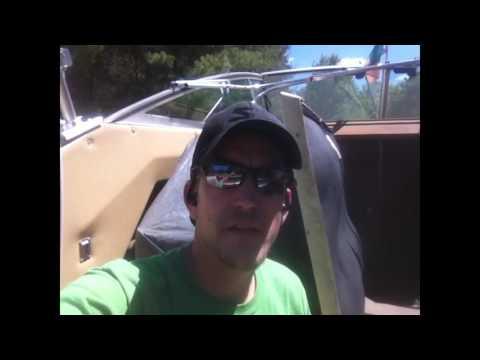83 Sea Ray boat 350 v8 cracked exhaust manifold JB weld fix