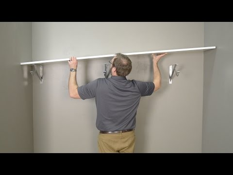 Simple Wood Shelf and Rod Installation Instructions
