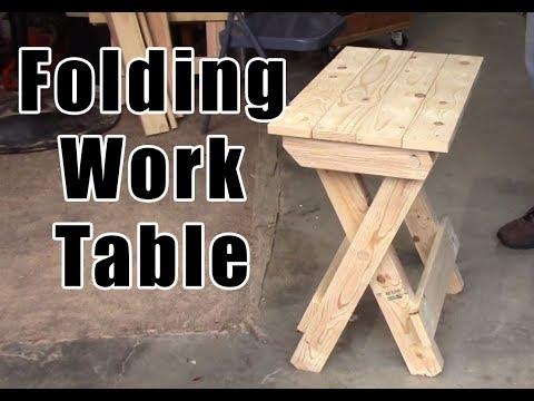 DIY How To Build A Folding Work Table