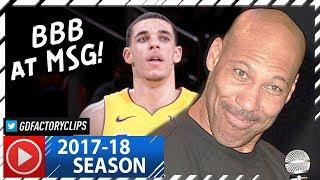 Lonzo Ball Full Highlights vs Knicks (2017.12.12) - 17 Pts, 8 Reb, 6 Ast, LAVAR WATCHING!