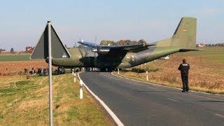Transall C 160 Überflug und Landung in Ballenstedt
