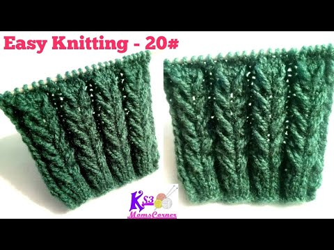 Braid Knitting (बुनाई) | Beginner level Sweater Design in Hindi | Easy Knitting pattern - 20#