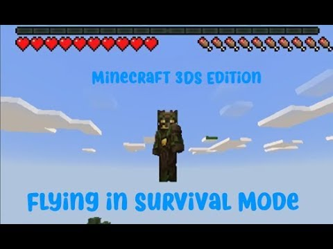 Minecraft New 3DS Edition Hack: Flying in Survival Mode