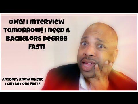 I need a bachelors degree fast!