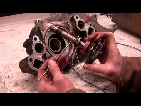 Inside a chevy water pump -- how it works