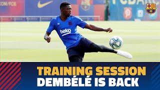 TRAINING SESSION   Dembélé is back ahead of LaLiga match against Villarreal