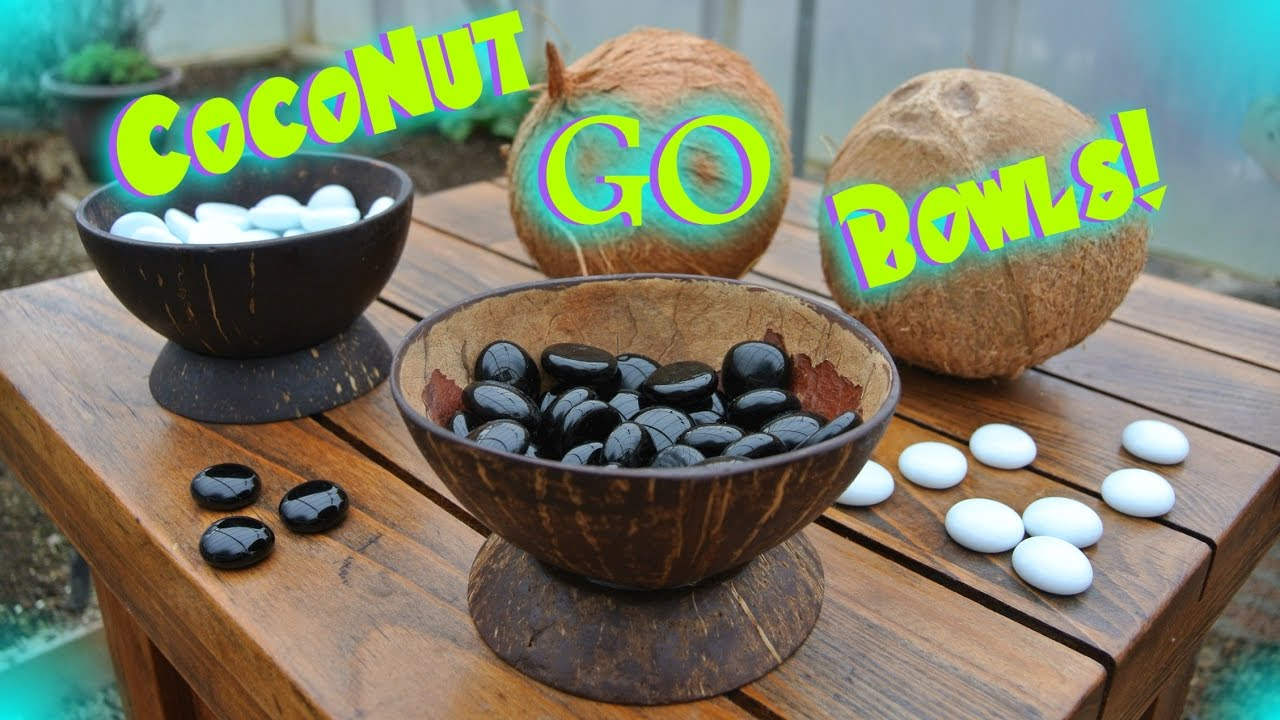 Crafting Go bowls from coconuts!