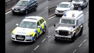[EXTREMLY RARE] 3x PSNI Belfast + Northern Ireland Ambulance Service responding to a RTC