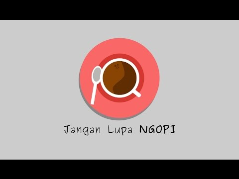 Inkscape Tutorial - How to make Coffee Cup Flat Design