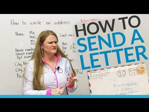 How to send a letter in English
