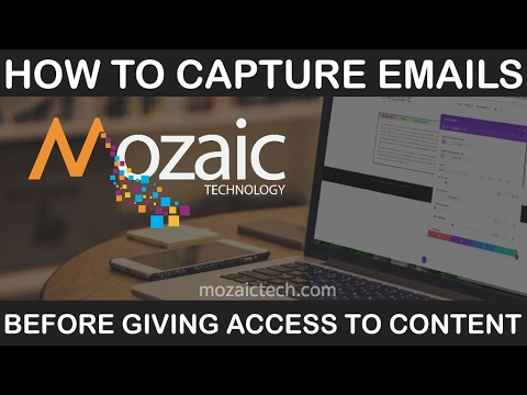 Capture email addresses before allowing access to content on your website