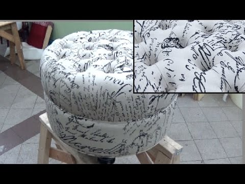 HOW TO UPHOLSTER A ROUND TUFTED BENCH - ALO Upholstery