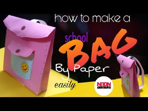 How to make a paper bag//school bag//for school project//by Neion Art N Style