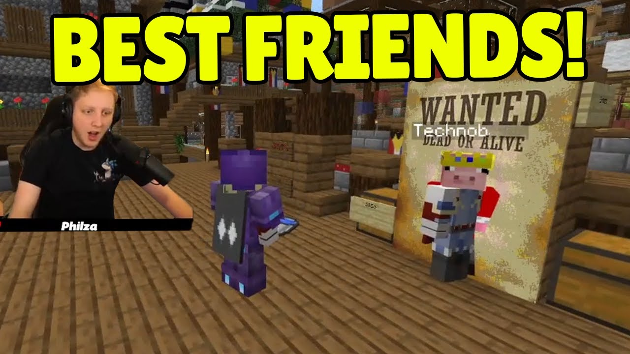Technoblade and Philza FUNNY and WHOLESOME Moments on Dream SMP!