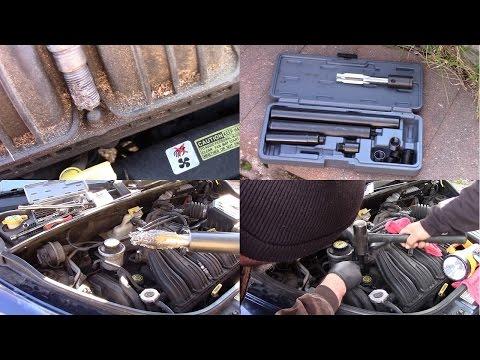 PT Cruiser stripped spark plug thread repair with Lisle 65000