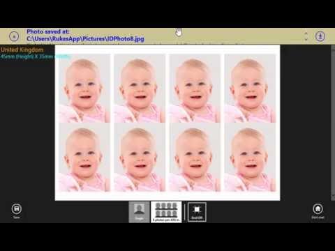 Create UK passport photo using Passport Photo DIY app