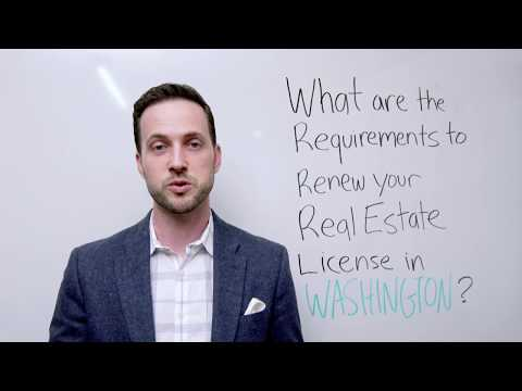 What are the Washington Real Estate License Renewal Requirements?