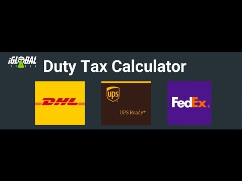 Shopify Duty and Tax Calculator