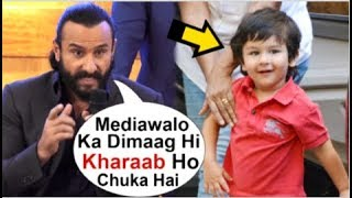 Saif Ali Khan's ANGRY Reaction On Paparazzi For HURTING Baby Taimur Ali Khan While Spotted Alone