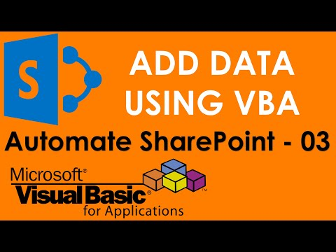 S01E05-Add new data to SharePoint using VBA ADO and SQL