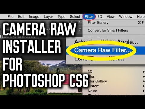 Camera Raw Filter Menu Installer | Use on Any Layer in Photoshop CS5, CS6 (Tested, working)