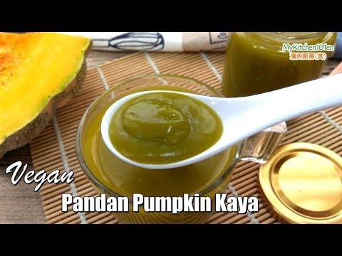 Vegan Pandan Pumpkin Kaya Spread | MyKitchen101en