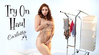 Carlotta's sexy bodysuit lingerie haul -sheer, animal print and more!