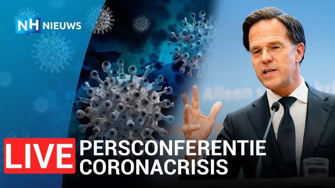 LIVE 🔴 Persconferentie Rutte en De Jonge over coronamaatregelen