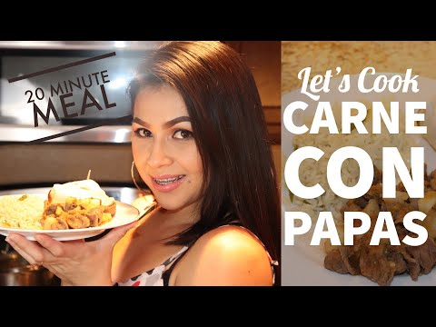 Cooking With Me:How I Make Carne Con Papas en Chile Verde
