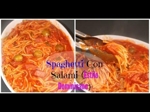 Spaghetti Dominicano con Salami | Cocinando Con Ros Emely