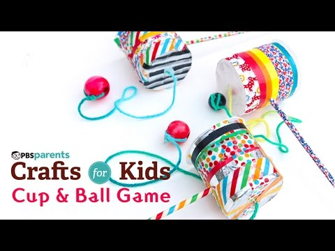 DIY Toy Cup & Ball Game | PBS Parents | Crafts for Kids