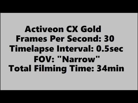 Airdrie to Didsbury Timelapse on Activeon CX Gold