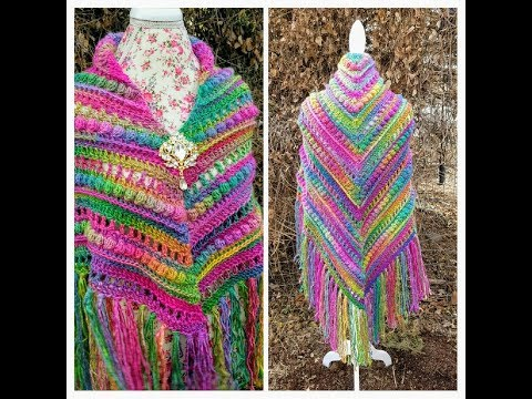 How To Crochet - Shawl | The Prism Glass Chandelier Shawl | Crochet Tutorial #458