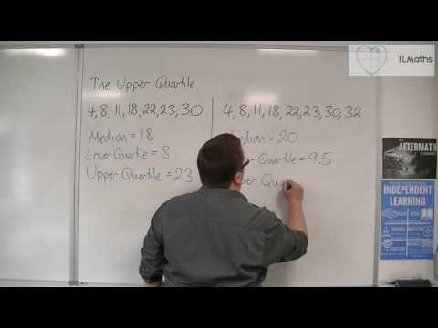 Core Maths - The Upper Quartile (UQ) / 75th Percentile