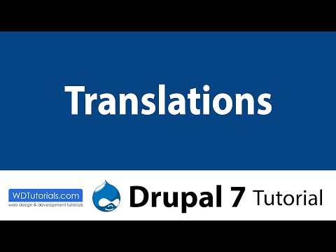 Drupal 7 - Translations