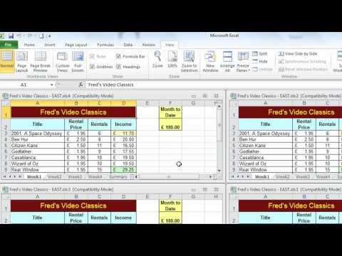 Excel Tip #004 - View Multiple Worksheets - Microsoft Excel 2010 2007 2003