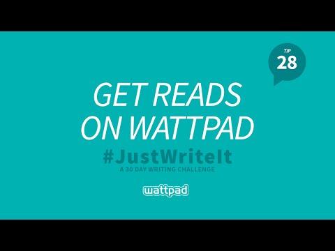 Writing Tip #28: Get Reads on Wattpad