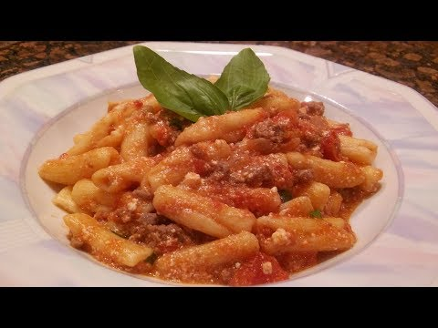 How to make Cavatelli In A Ricotta Bolognese Sauce