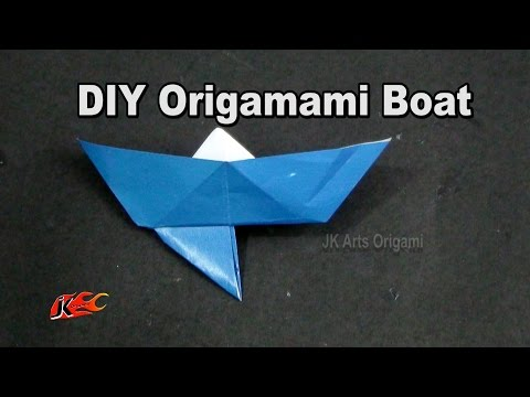 How to make a paper boat with an anchor |  Learn origami | JK Origami 006
