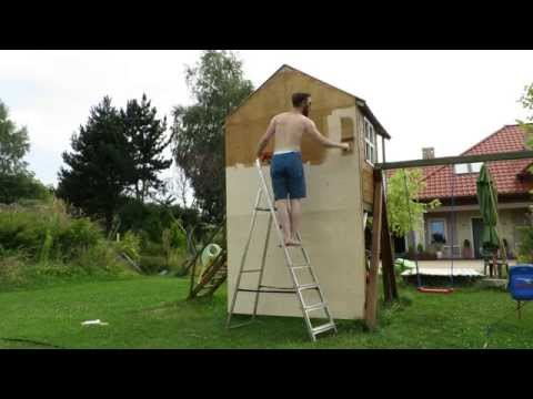 Building a children's climbing wall